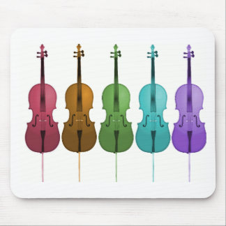 Cellos and Color Mouse Pad