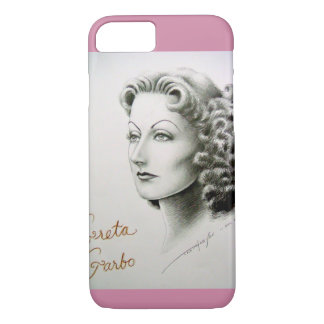 Cellphone case with Greta Garbo portrait.