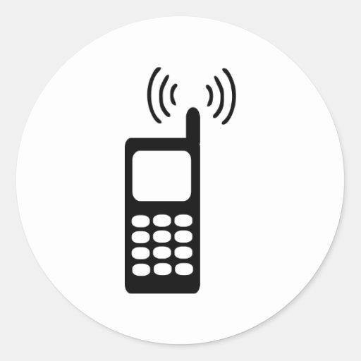 Cellphone Classic Round Sticker