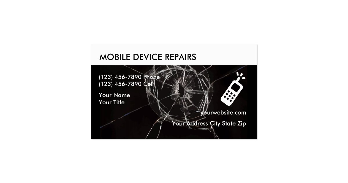 Cellphone repair business cards zazzle for Cell phone repair business cards