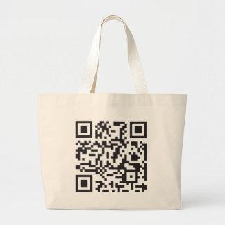 Cellphone serial number code large tote bag