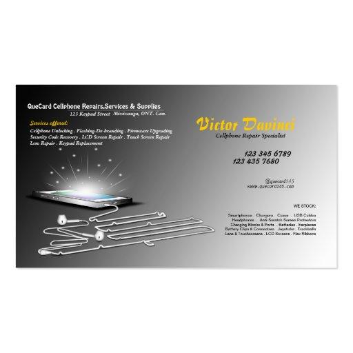 Cellphone unlocker repair servicing business card zazzle for Phone repair business card