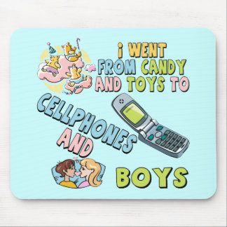 Cellphones and Boys T-shirts and Gifts For Her Mouse Mat