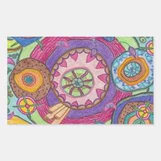 Cells: Crayon Art by Nana B. Rectangular Sticker