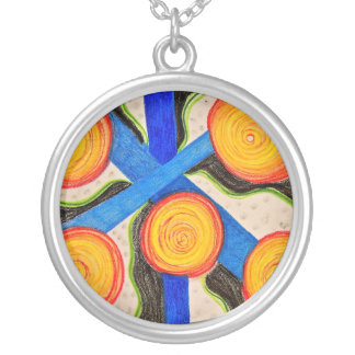 Cells Round Pendant Necklace