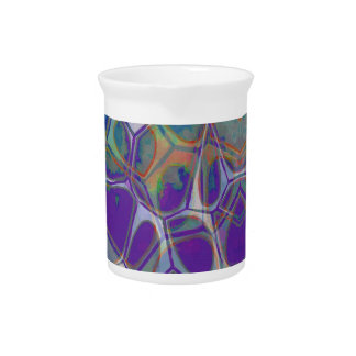 Cellular Abstract Pattern 17 Drink Pitcher