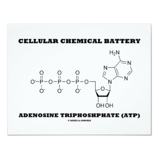Cellular Chemical Battery Adenosine Triphosphate Card