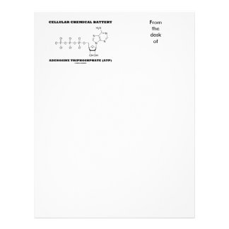 Cellular Chemical Battery Adenosine Triphosphate Letterhead