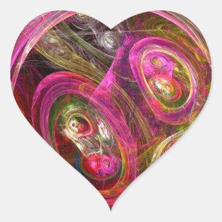Cellular Heart Sticker