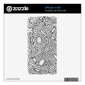Cellular Indonesian Textile Pattern Decal For iPhone 4S