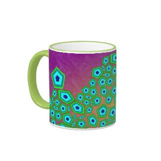 Cellular Modern Art Pattern Ringer Mug