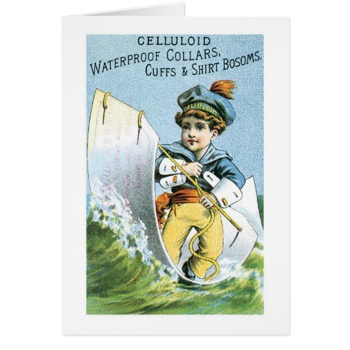 Celluloid Waterproof Collars Cards