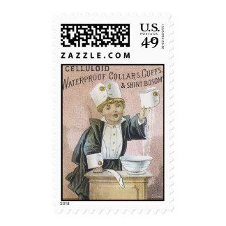 Celluloid Waterproof Collars, Cuffs & Shirt Bosoms Stamp