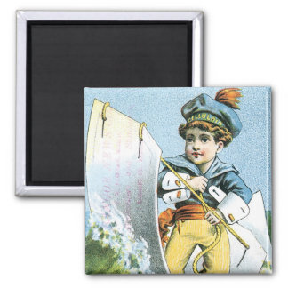 Celluloid Waterproof Collars 2 Inch Square Magnet