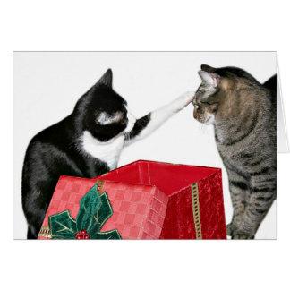 Celos del navidad tarjeta de felicitación