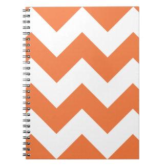 Celosia Orange Chevron Zigzag Notepad Notebook
