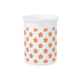 Celosia Orange Flower 9 Beverage Pitchers