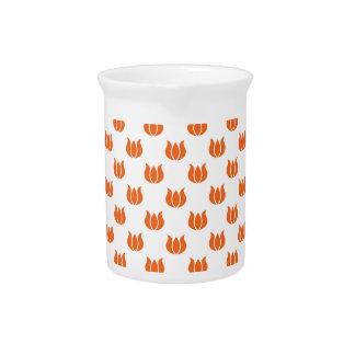 Celosia Orange Flower Pattern 5 Drink Pitchers