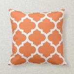 Celosia Orange Quatrefoil Pillow