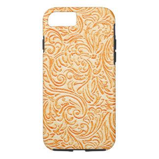 Celosia Orange Vintage Scrollwork Graphic Design iPhone 8/7 Case