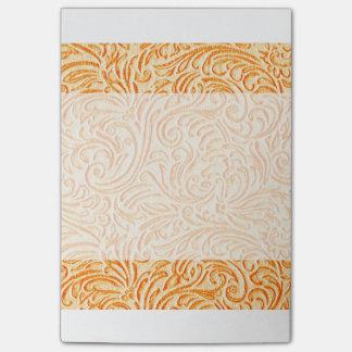 Celosia Orange Vintage Scrollwork Graphic Design Post-it Notes