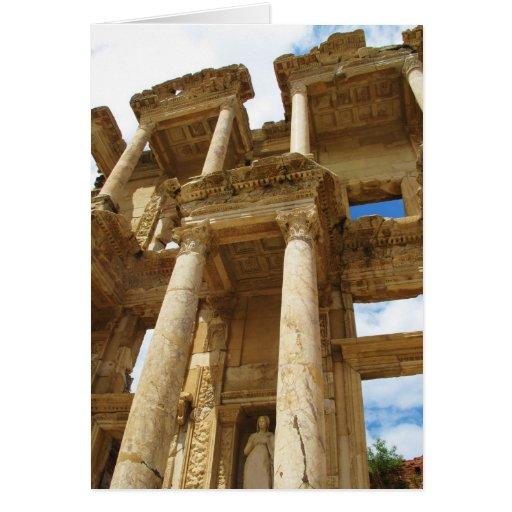 Celsius Library, famous  Roman building - Ephesus Cards