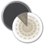 Celsius to Fahrenheit Cooking Conversion Chart Tan 3 Inch Round Magnet