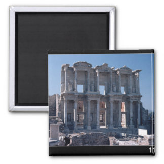Celsus Library, built in AD 135 2 Inch Square Magnet