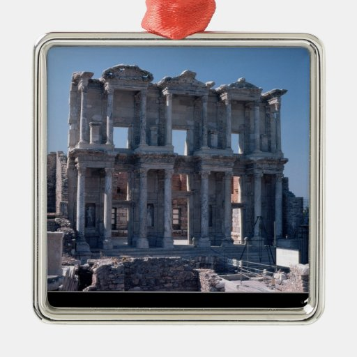 Celsus Library, built in AD 135 Christmas Tree Ornaments