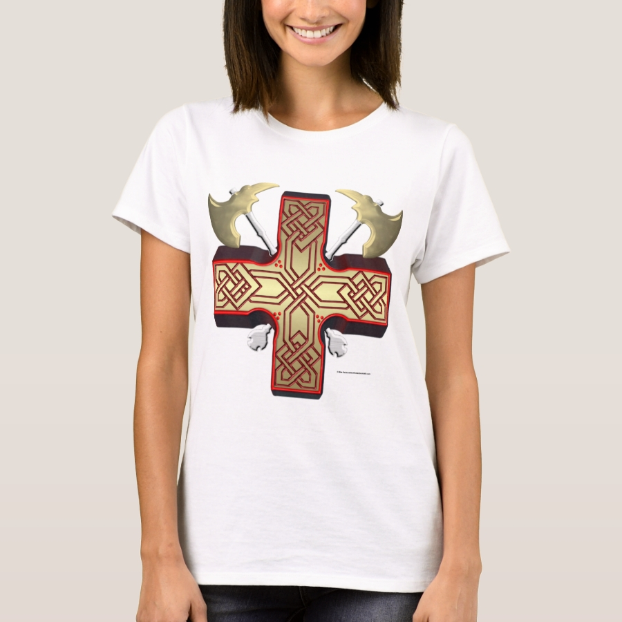 Celt Ax Cross Ladies T-Shirt - Best Selling Long-Sleeve Street Fashion Shirt Designs
