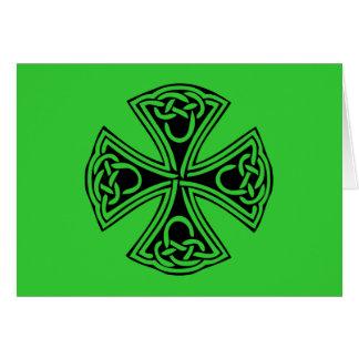 celt_cross greeting card