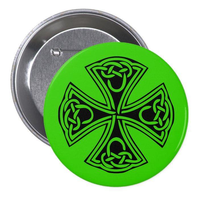 celt_cross pinback button