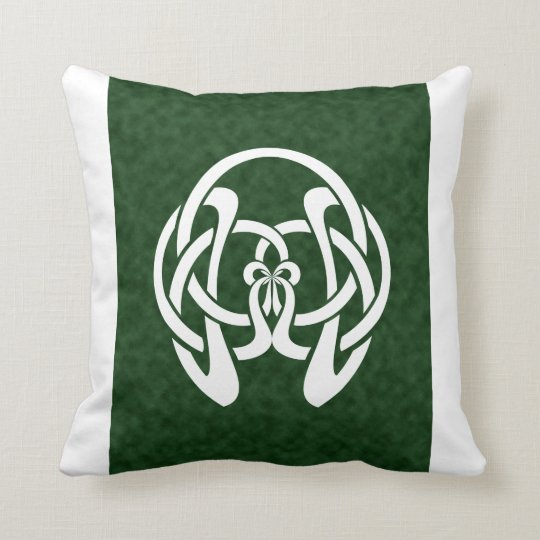 Celtic 4-point Knot, Geometric Bow Pattern Throw Pillow