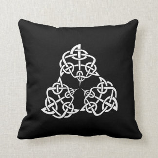 Celtic 4-point Knot Pattern Throw Pillows