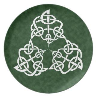 Celtic 4-point Knot, Triple Melamine Plate