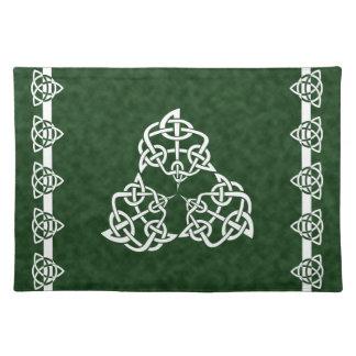 Celtic 4-point Knot, Triple, Placemats
