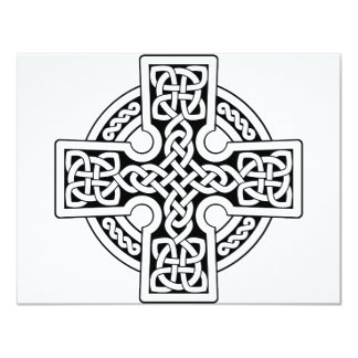 Celtic 4 way black and white card