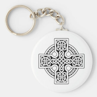 Celtic 4 way black and white keychain