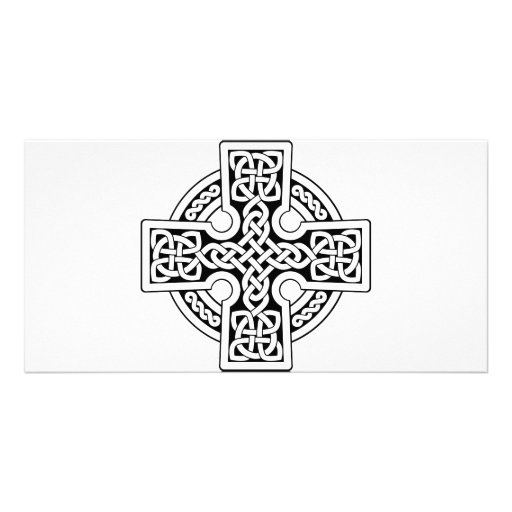 Celtic 4 way black and white photo card