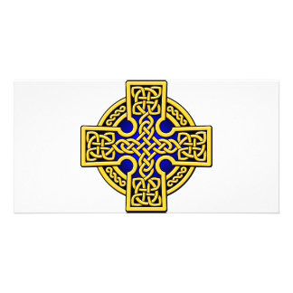 Celtic 4 way gold and blue card