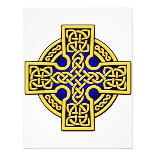 Celtic 4 way gold and blue flyer