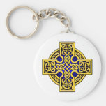 Celtic 4 way gold and blue key chain