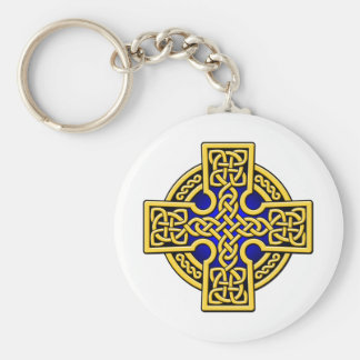 Celtic 4 way gold and blue keychain