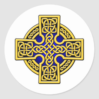 Celtic 4 way gold and blue stickers