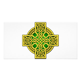 Celtic 4 way gold and green card