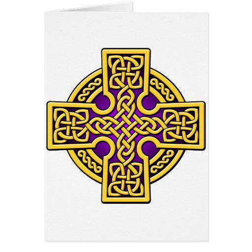 Celtic 4 way gold and purple card