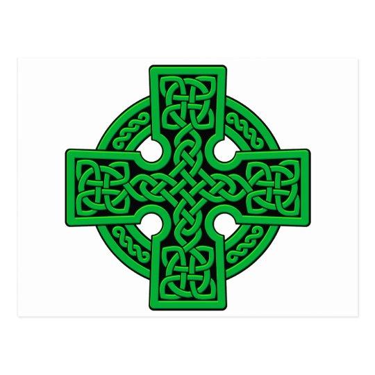 Celtic 4 way green postcard