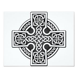 Celtic 4 way silver and black card