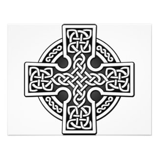 Celtic 4 way silver and black personalized announcements