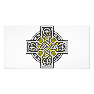 Celtic 4 way silver and gold card